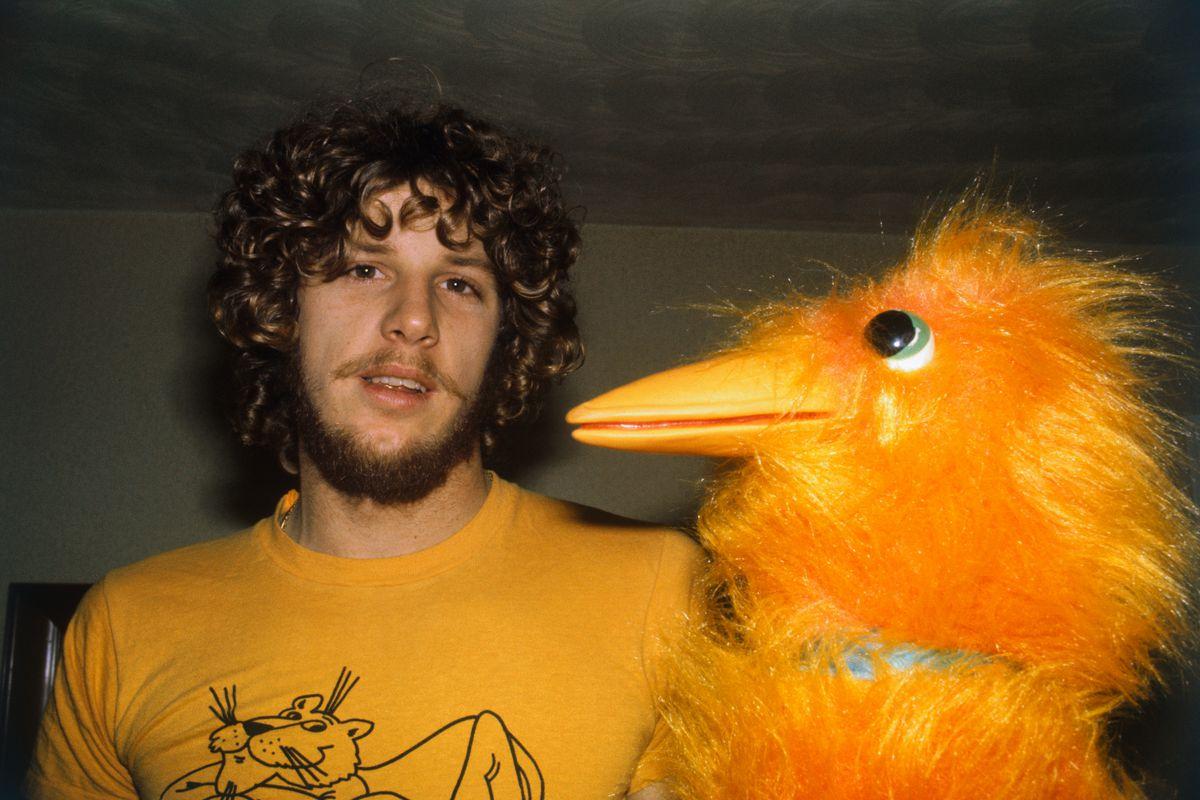 Mark Fidrych with 'Big Bird'