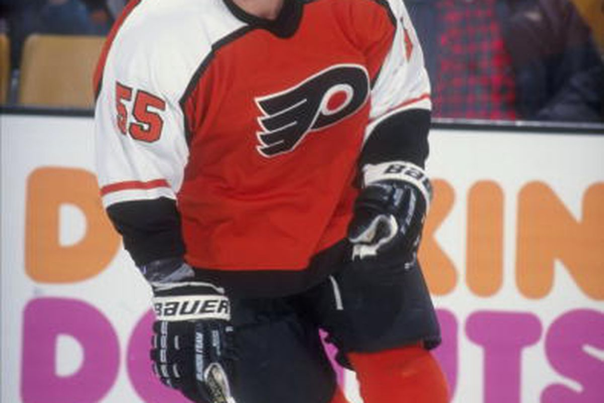 Center Chris Gratton was lured away form Tampa Bay by a Philadelphia Flyers offer sheet in teh summer of 1997.  in 1998 (Mandatory Credit: Steve Babineau /Allsport)