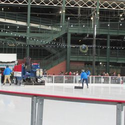Every now and then, the rink gets cleaned and resurfaced