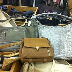 From left to right: Nina Ricci shearling lined hobo, Lanvin purse, Devi Kroell large hobo. These are the only ones, so move fast if you want them.