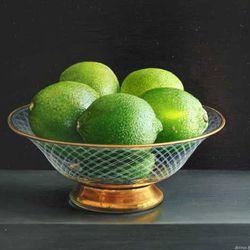 Limes in a Glass Bowl, Jessica Brown