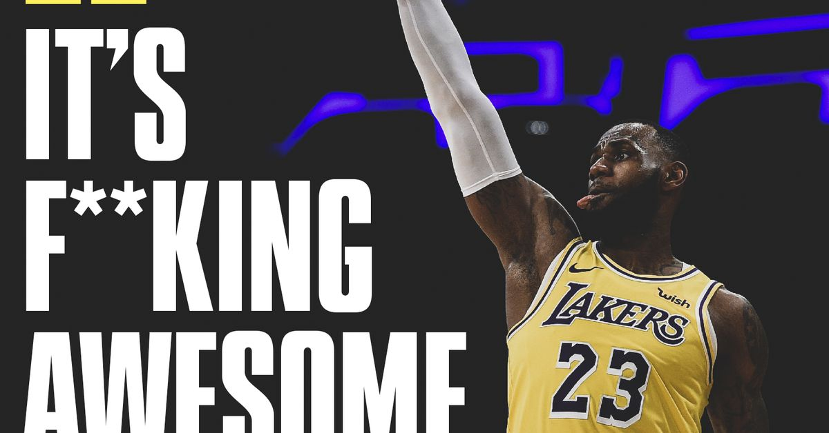 Kobe Bryant says it s  f—king awesome  to see LeBron James in Lakers jersey  - Silver Screen and Roll 204598078