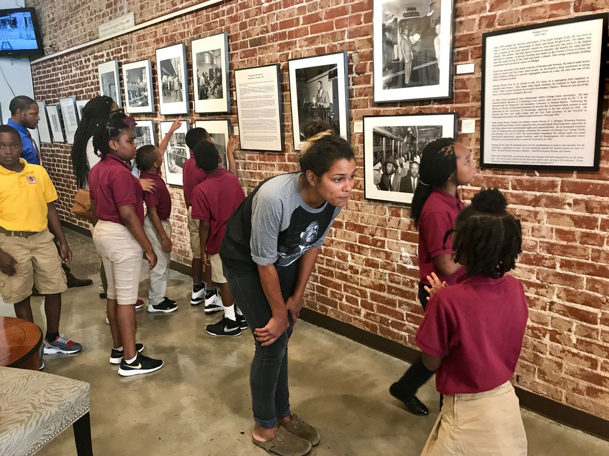 Vision Prep students tour the Withers Collection Museum and Gallery on Beale Street.
