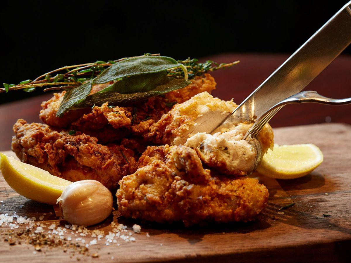 Fried chicken at Wayfare Tavern