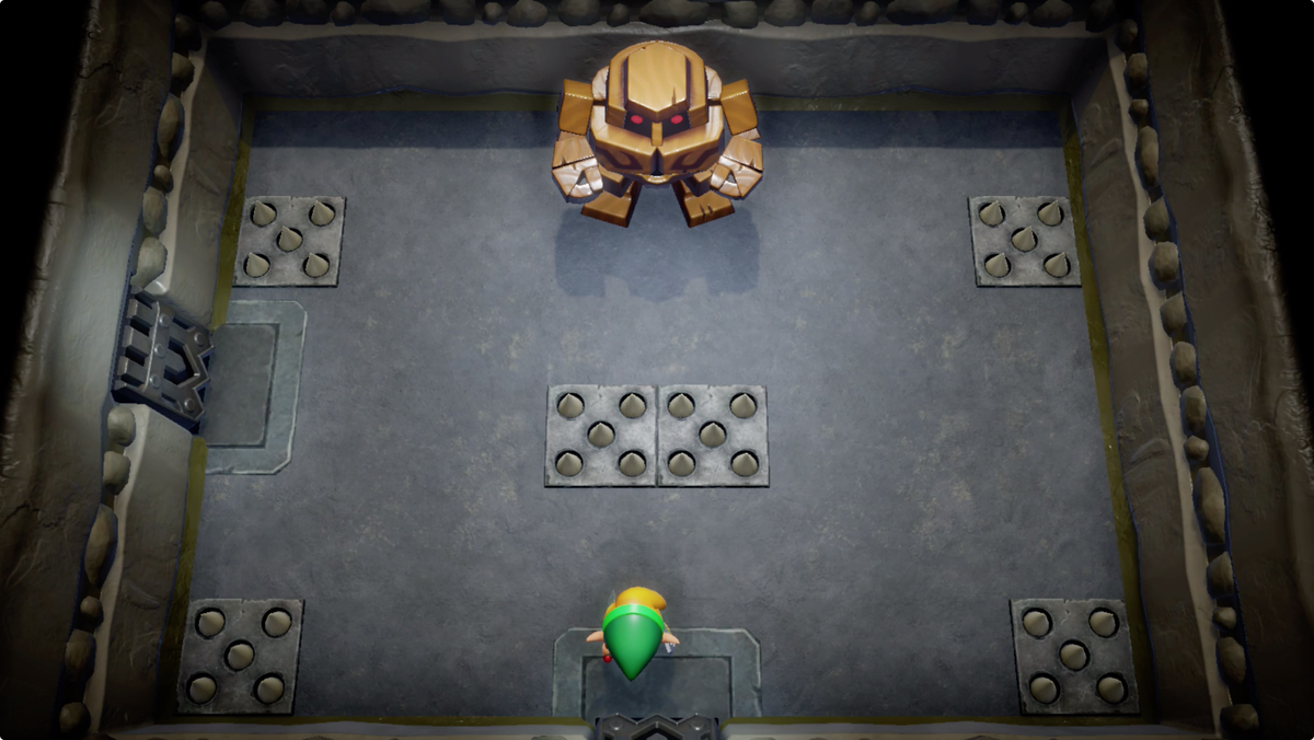 Link's Awakening Color Dungeon Dekudon mini-boss fight