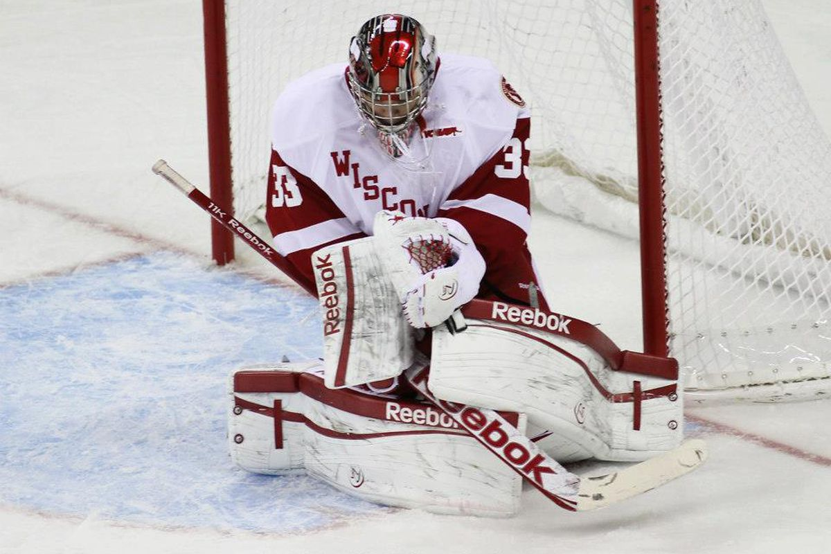 Wisconsin goalie Joel Rumpel returned from an ankle injury to be named the Big Ten First Star