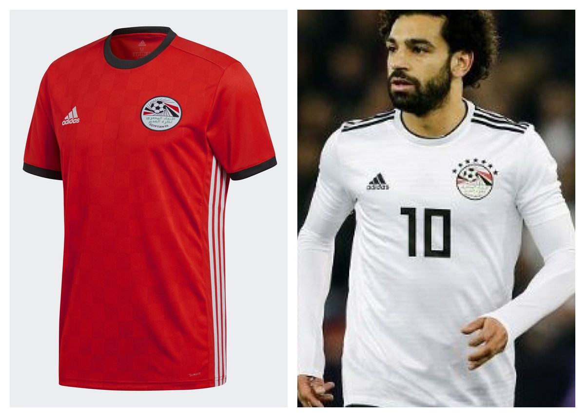 397c0401169 Mohamed Salah will hopefully be fit to lead his team into the World Cup,  and they have a pretty nice look. The plain white away jersey will knock  you down ...