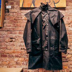 "<b>Driza-Bone</b> coat, <a href=""http://www.bspacenyc.com/products/driza-bone-short-coat-brown-s"">$350</a>"
