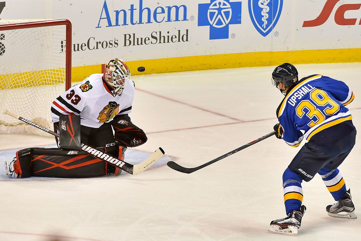 """The Blues win the """"lucky sixth team"""" sweepstakes for Scottie Upshall"""