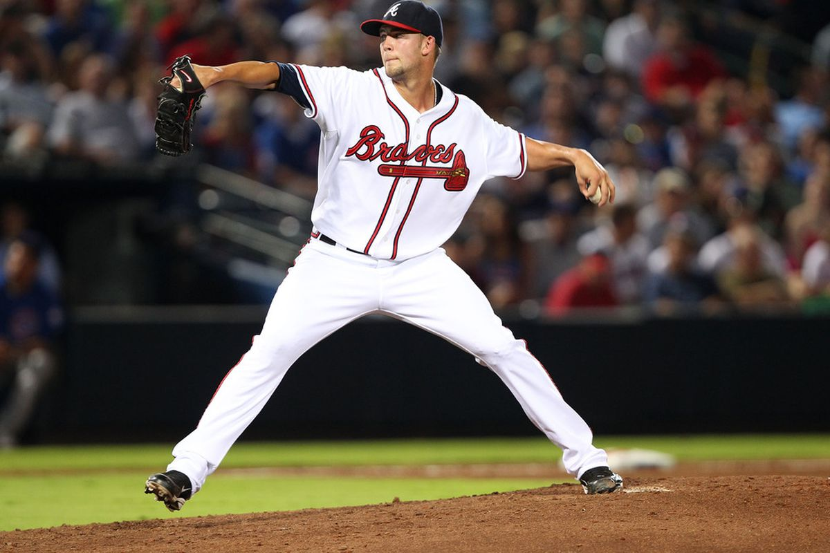 Home runs have been a problem for Atlanta's Mike Minor, but don't be surprised if he gets them under control in the season's last two months. (Photo by Mike Zarrilli/Getty Images)