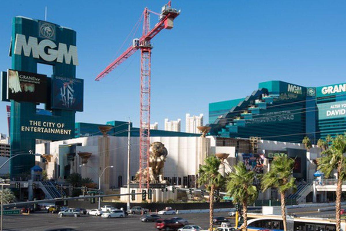 Hakkasan construction at the MGM Grand.