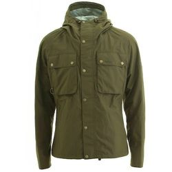 """<strong>Barbour</strong> Tape Fly Jacket in Army, <a href=""""http://www.scoopnyc.com/tape-fly-jacket.html"""">$348</a> at Scoop NYC"""