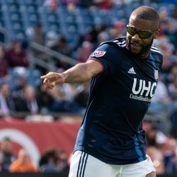 FOXBOROUGH, MA - MARCH 30: New England Revolution defender Andrew Farrell #2 wearing off his new goggles at Gillette Stadium on March 30, 2019 in Foxborough, Massachusetts. (Photo by J. Alexander Dolan - The Bent Musket)