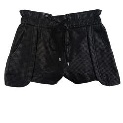 """These spendy Minkoff perforated leather shorts are edgy and stylish. We're sort of obsessed with the peplum-like detailing on the sides. $495, <a href=""""http://knife.curbednetwork.com/galleries/51c2eaa8f92ea14c670106ac"""">Rebecca Minkoff</a>"""