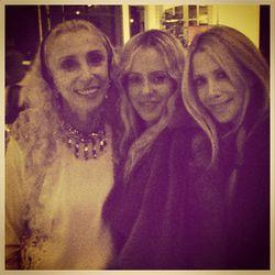 "Franca Sozzani with Skaist-Taylor designers/Juicy Couture founders Pamela Skaist-Levy and Gela Nash Taylor. @skaisttaylor/<a href=""http://instagram.com/p/f4K2cugLvi/"">Instagram</a>"
