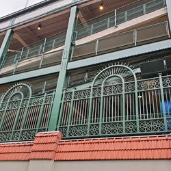 Closeup look at some of the replicas of the 1930s ironwork, on the south face of the ballpark