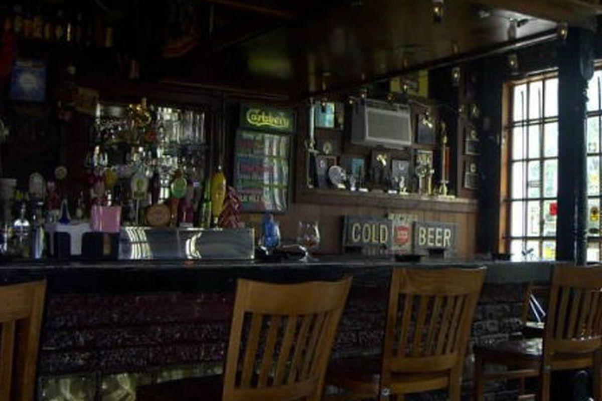 The bar at Rudyard's.