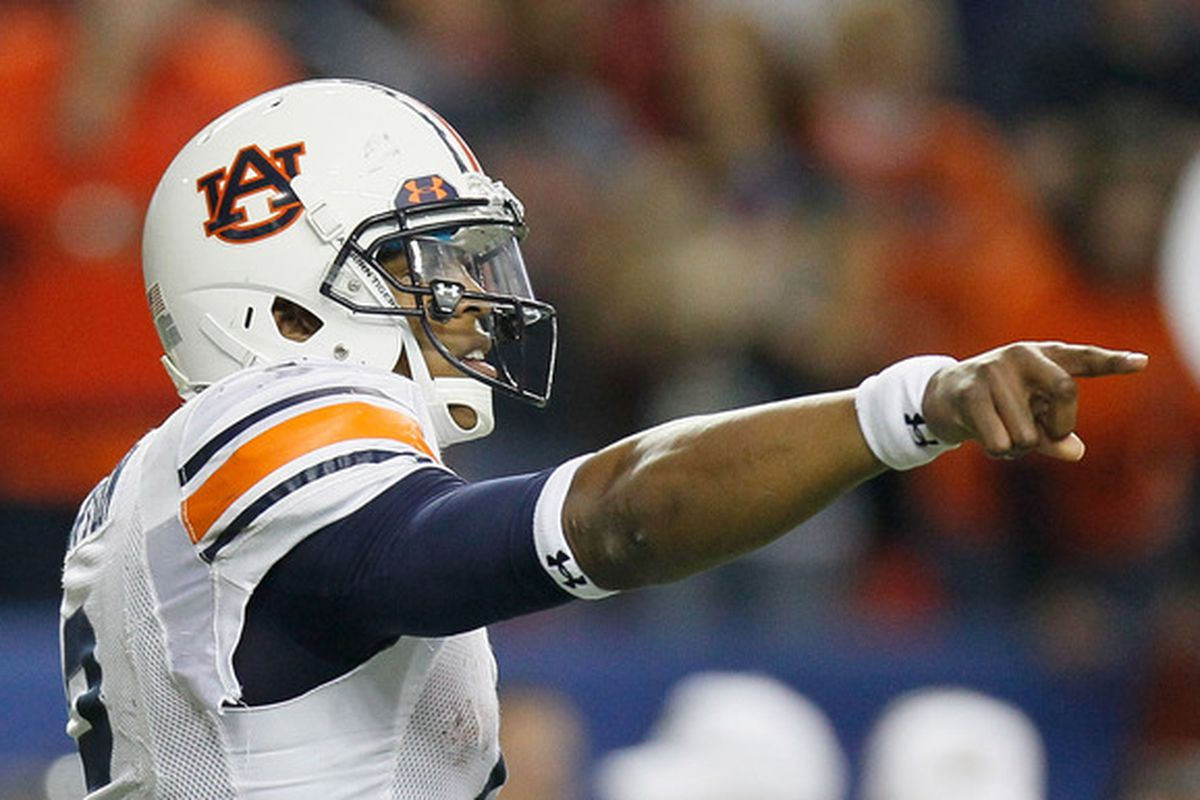 Quarterback Cam Newton #of the Auburn Tigers.  (Photo by Kevin C. Cox/Getty Images)