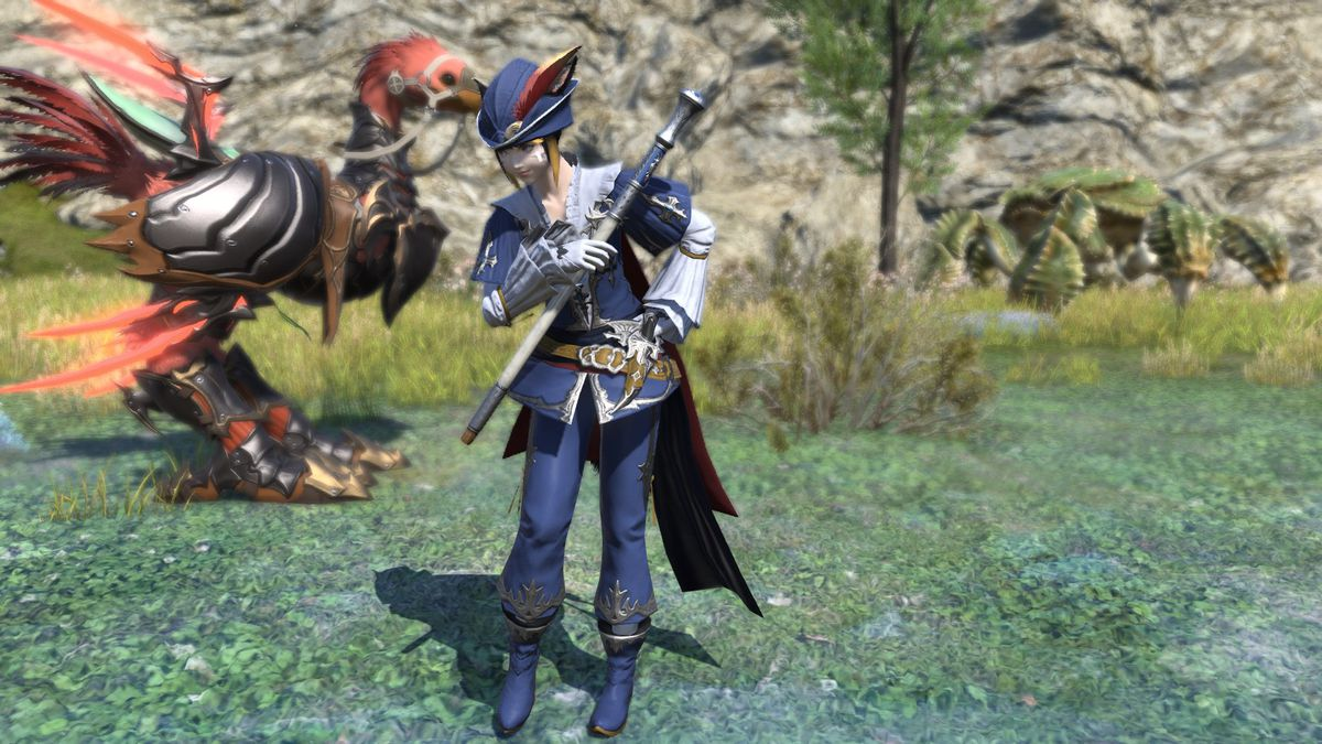 The Blue Mage starter outfit isn't too fancy, but you have to earn the good stuff.