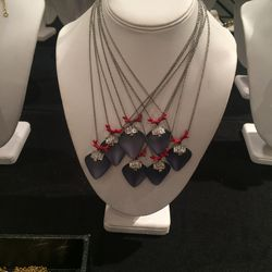 Coral-detail necklace, $75