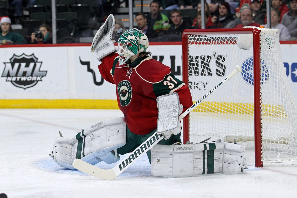 Wild netminder Josh Harding is closer to making his return to the lineup.