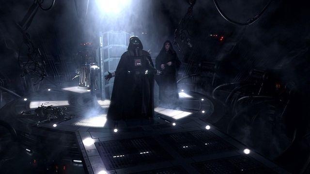 Darth Vader and Emperor Palpatine in <em>Star Wars Episode III: Revenge of the Sith</em>.