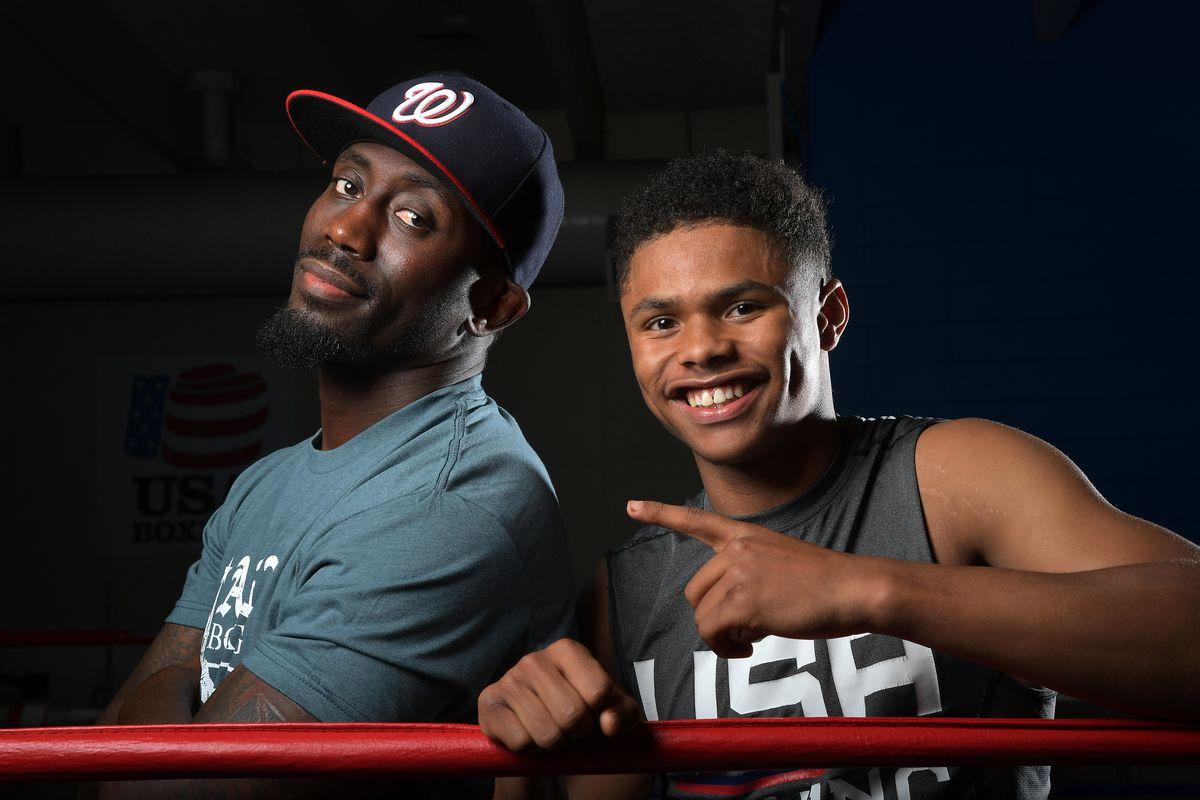Olympic boxer Shakur Stevenson trainer Kay Koroma