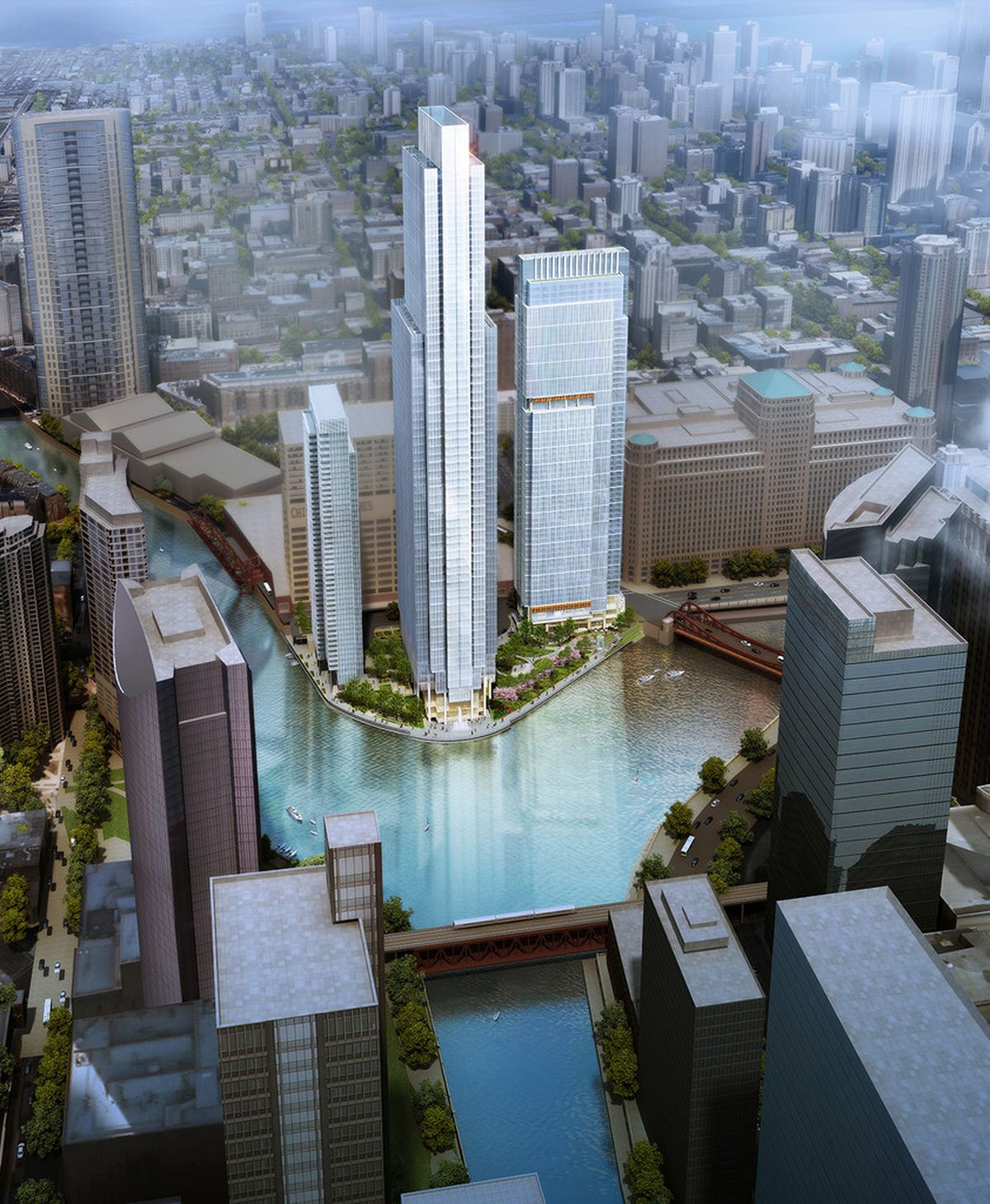 Crews Get To Work On 60-story Wolf Point East Tower