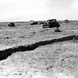 A fissure occured in 1934 in Hansell Valley in northwestern Utah.