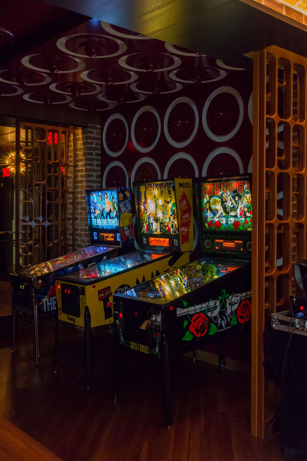Pinball machines at On the Record