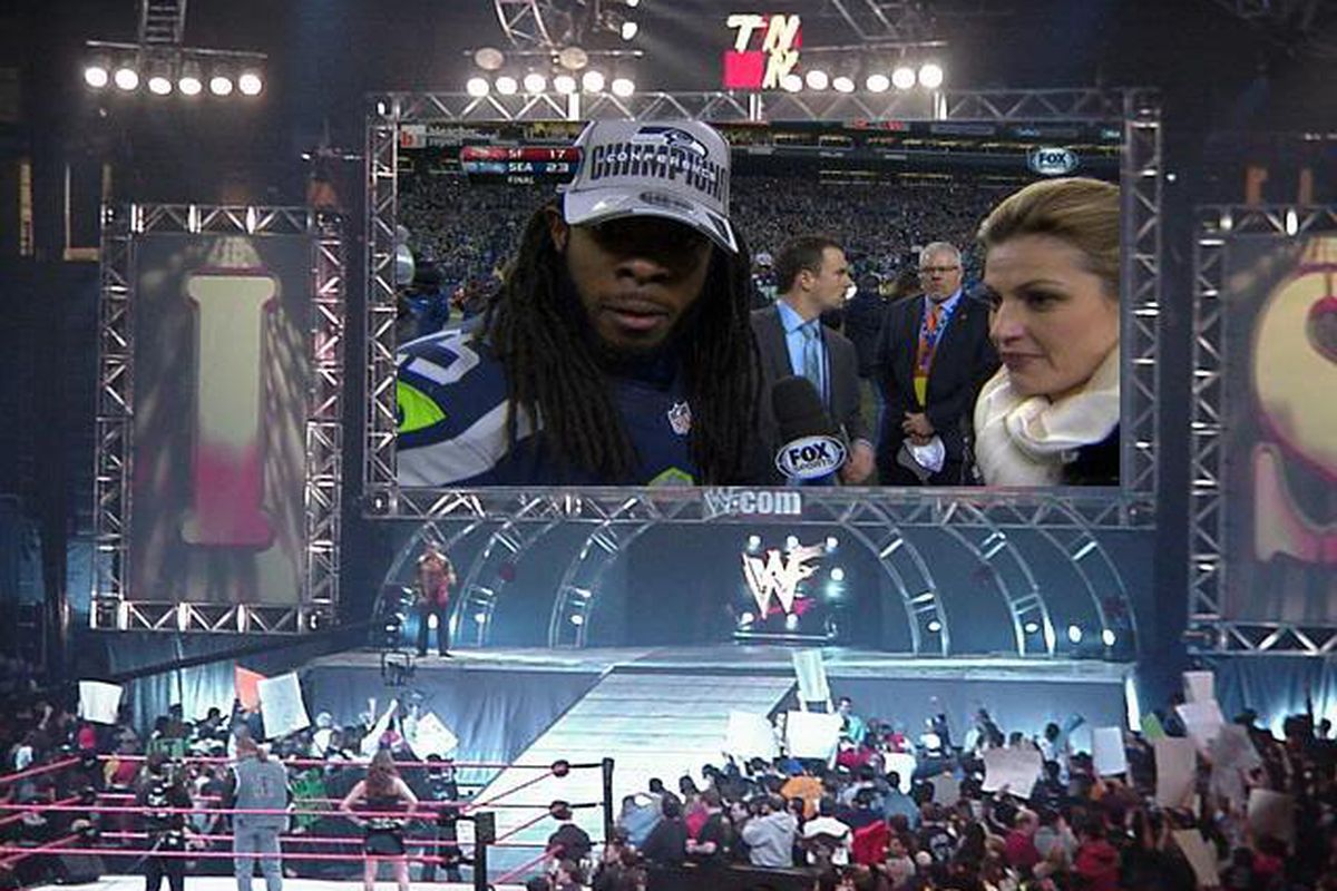 Richard Sherman is ready to take on Randy Orton on Raw for the WWE Championship!