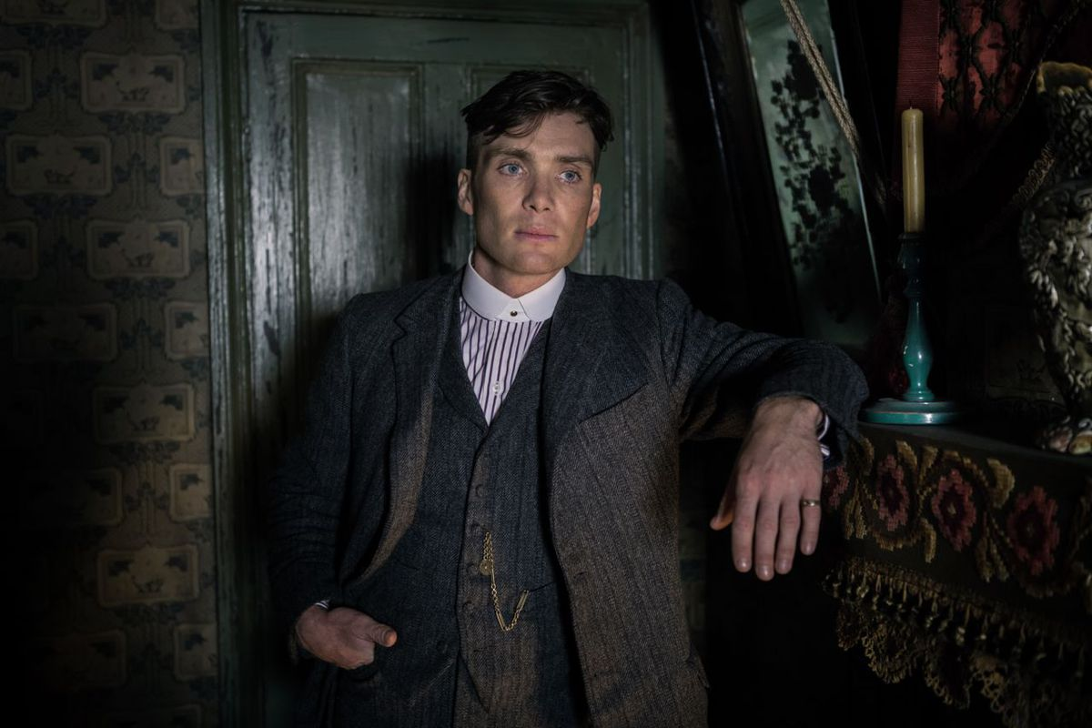 Cillian Murphy is electrifying as Tommy Shelby in British gangster series Peaky Blinders.