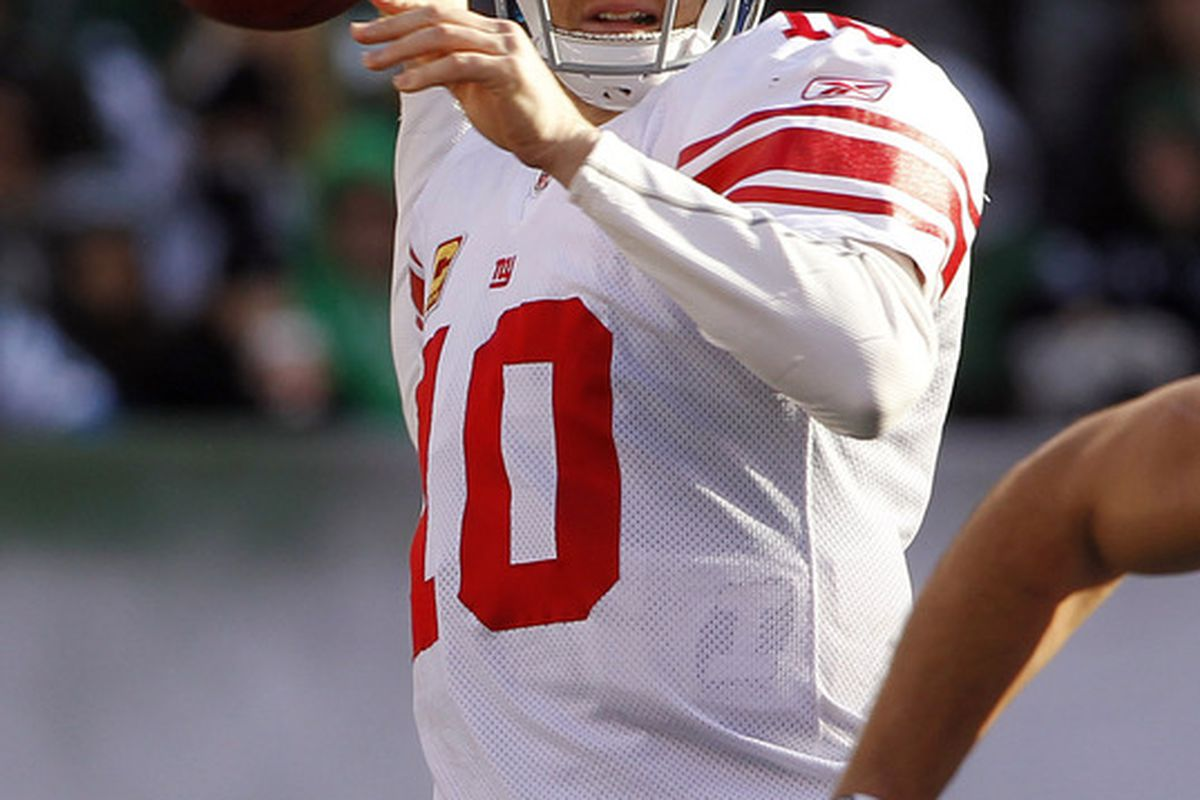 New York Giants quarterback Eli Manning. (Photo by Rich Schultz /Getty Images)