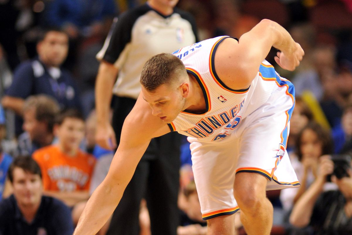At least Kansas fans got to see Cole Aldrich do this!