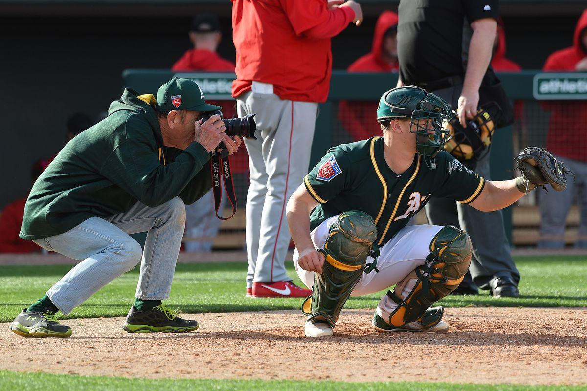 MLB: Spring Training-Los Angeles Angels at Oakland Athletics