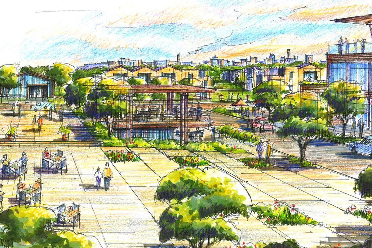 Main plaza rendering