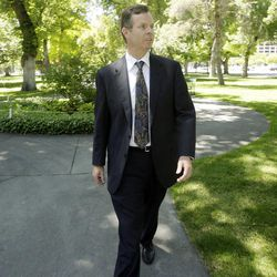 Attorney general candidate John Swallow in Salt Lake City  Thursday, June 14, 2012.