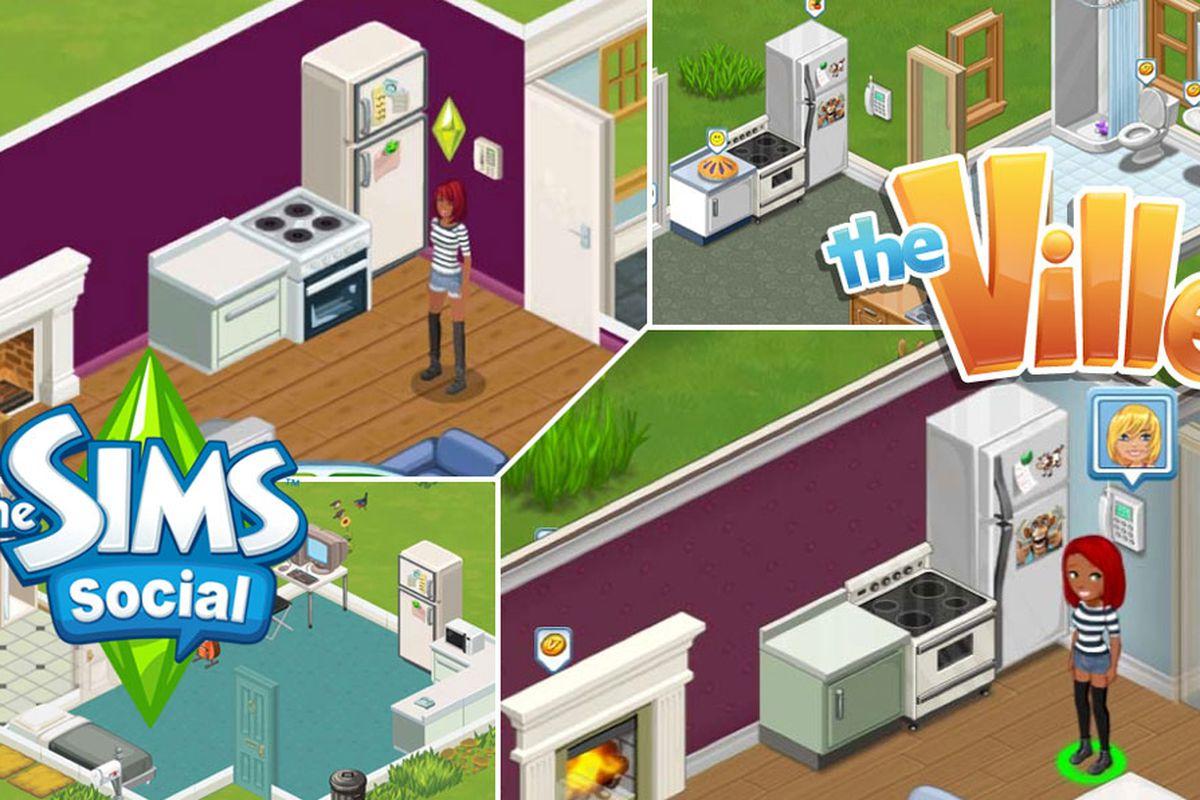 the sims social vs the ville