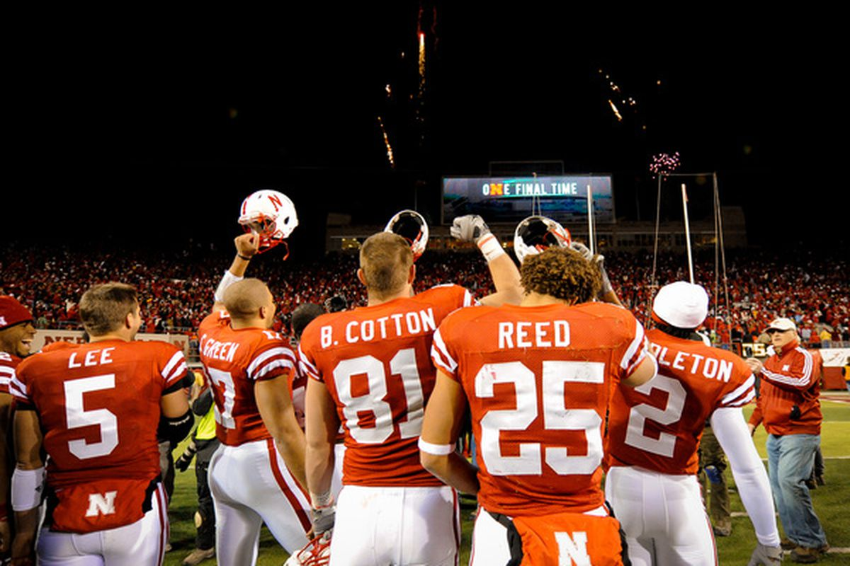 Does anyone really think these guys needed a Big 12 North trophy to make their day?