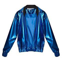 """Rihanna metallic bomber jacket, <a href=""""http://www.pixiemarket.com/rihanna-metallic-bomber-jacket.html"""">$159</a> at Pixie Market"""