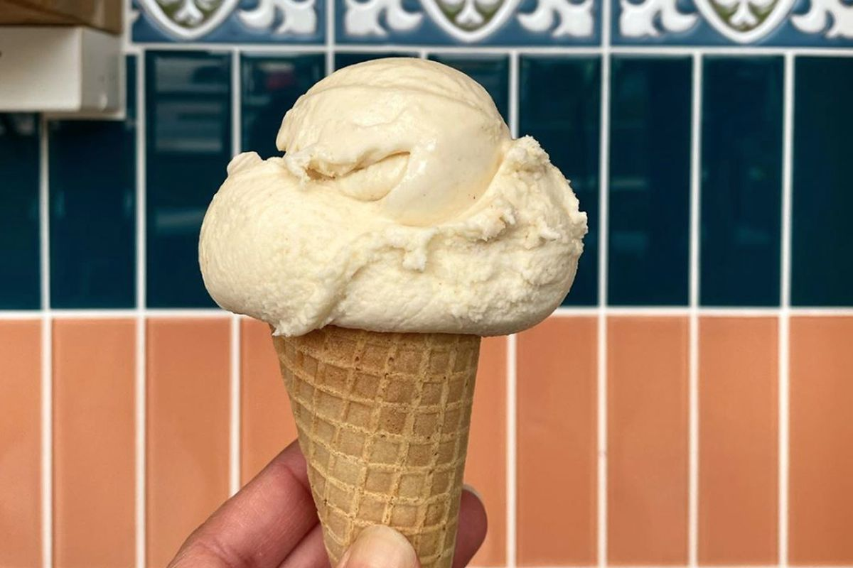 A horchata cone from Churn SF