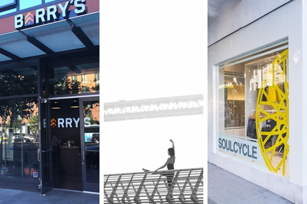 From L to R, Barry's Bootcamp, Avant Barre, and SoulCycle