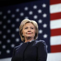 Democratic presidential candidate Hillary Clinton is introduced during a campaign stop on Friday, Jan. 22, 2016, in Rochester, N.H.