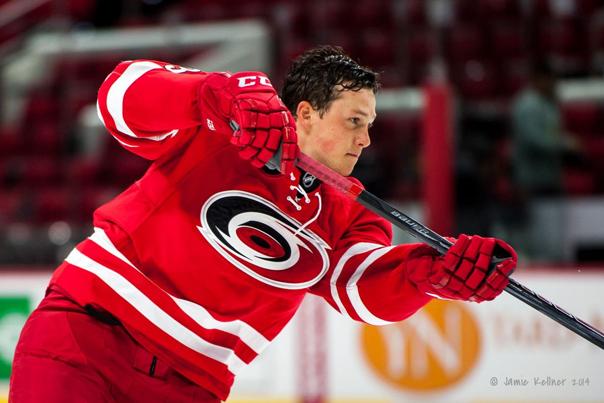 Jeff Skinner was the hero of last night's game with two goals (and another in the exhibition OT).