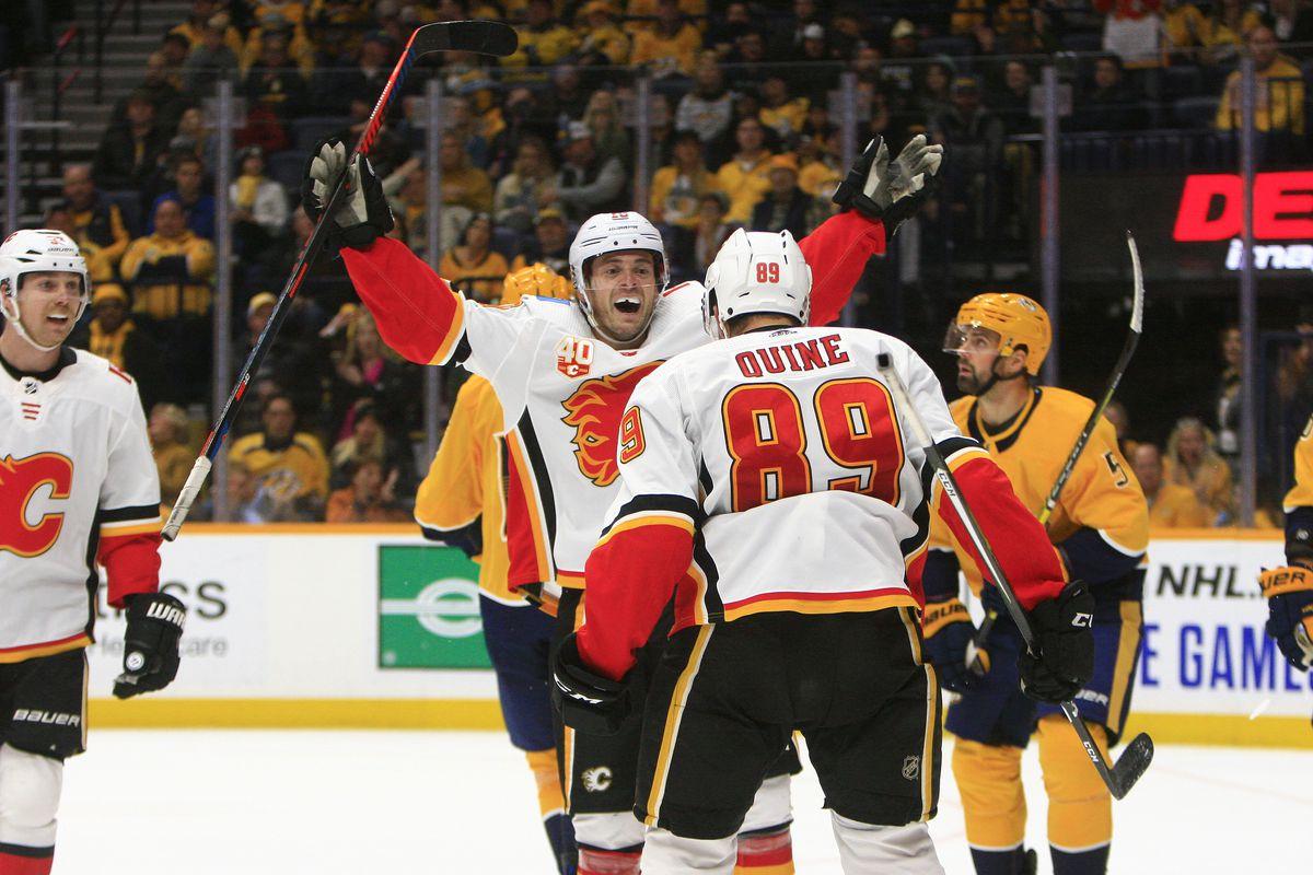 NHL: OCT 31 Flames at Predators