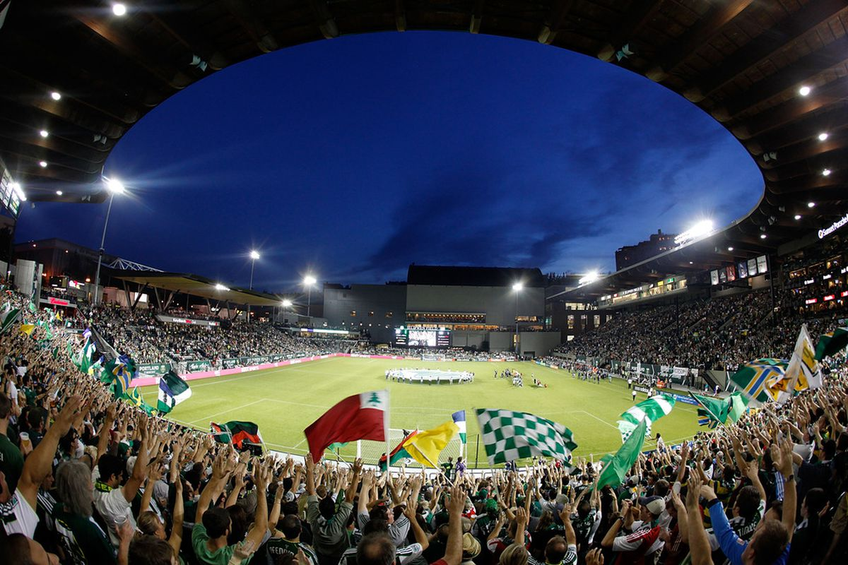 We'll sing for you, Timbers, til you finish the fight! (Photo by Jonathan Ferrey/Getty Images)