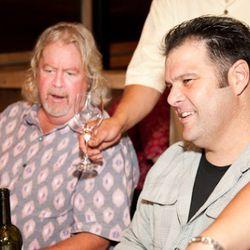 Jim Clandenen of Au Bon Climat Winery and Rich Wood, owner of Rockridge's Wood Tavern