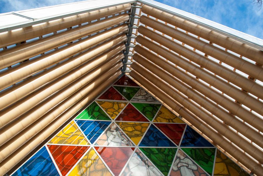 Temporary Cardboard Cathedral Rises To Replace