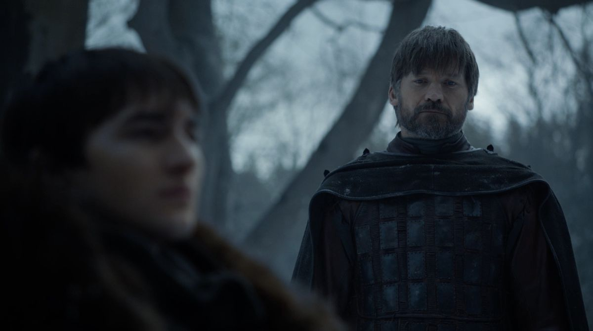 Game of Thrones S08E02 Jaime and Bran at the Weirwood tree