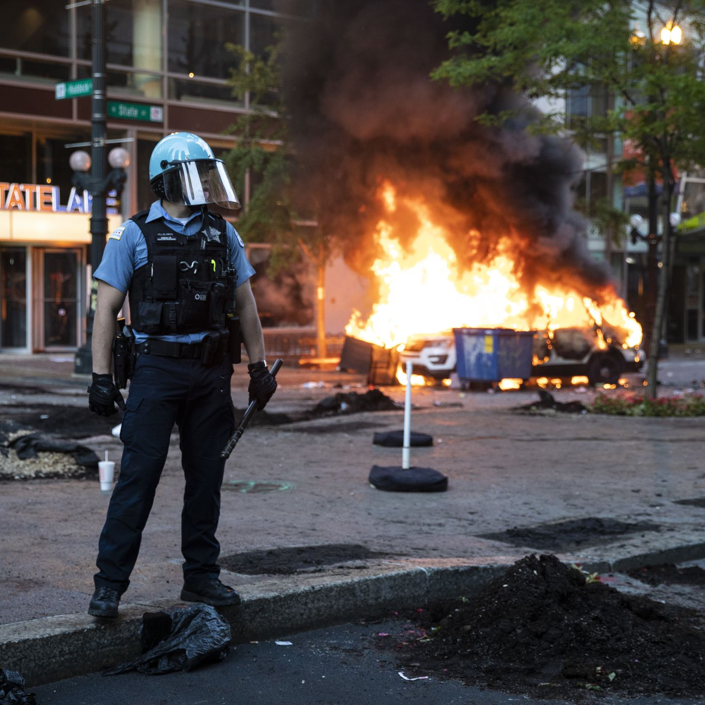 George Floyd protests: Officials blame differing groups of 'outsiders' for violence - Chicago Sun-Times